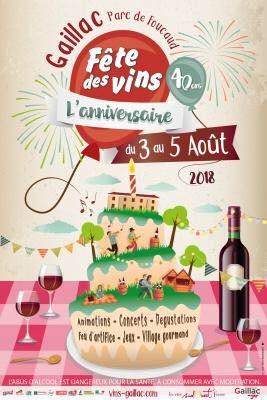 Fête des vins de Gaillac 3 au 5 août 2018